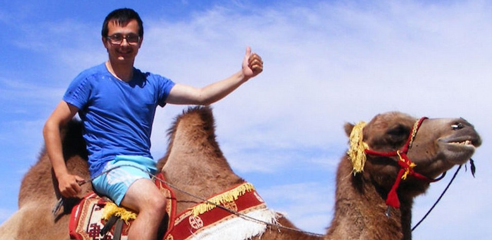 This Guy Managed To Travel Around The World For Only £55 3322EFEB00000578 3537672 The adventure seeker is pictured on a camel after getting lost i a 183 1460553191485