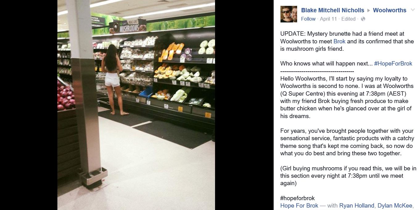 Guys Hunt For The Girl Of His Dreams In Supermarket Causes Online Sh*tstorm Capture 16