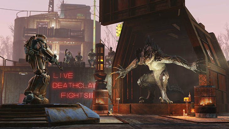 Start Your Own Deathclaw Fight Club In Fallout 4s Next Expansion Fallout4 WastelandWorkshop01 730x411