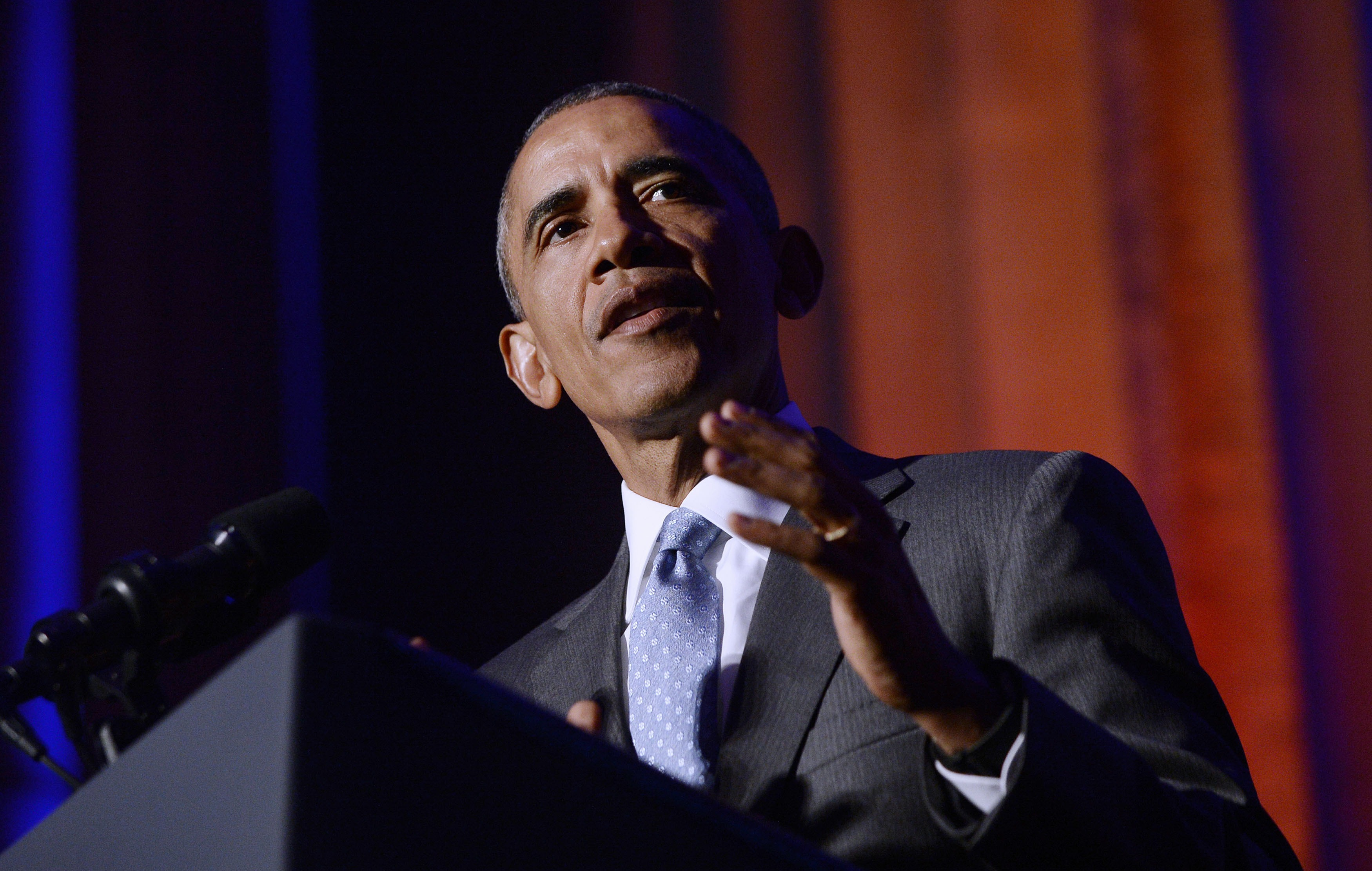 President Barack Obama Speaks At The Toner Prize For Excellence In Political Reporting Awards Dinner