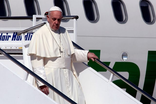 Pope Francis Visits The Greek Island Of Lesbos To Meet With Migrants