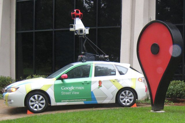 These Are The Weirdest, Most Shocking Things On Google Earth GoogleStreetViewCar Subaru Impreza at Google Campus 640x426