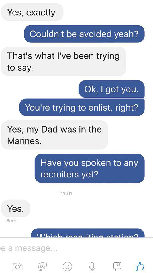 Guy Tells Stranger Hes Sleeping With Soldiers Wife, Instantly Regrets It Jodie4