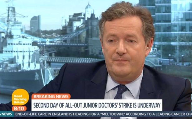 Junior Doctor Shuts Down Piers Morgans Suggestion Theyre Being Greedy Junior doctor shuts down Piers Morgan after he suggests they are striking for more money 1