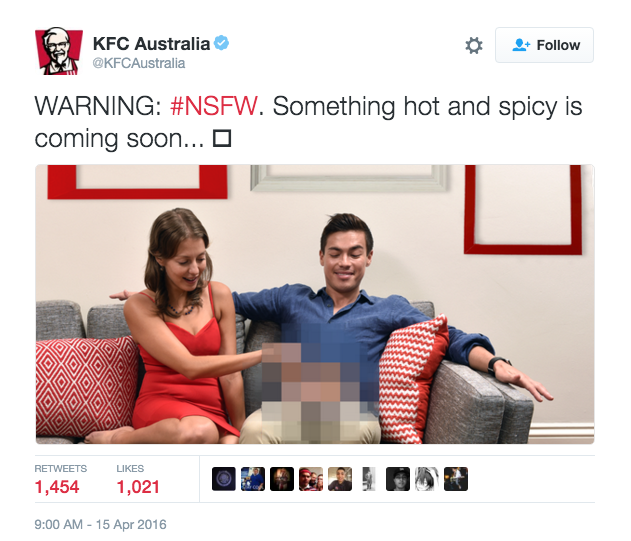 KFC Australias Dick Joke On Twitter Massively Backfires KFC