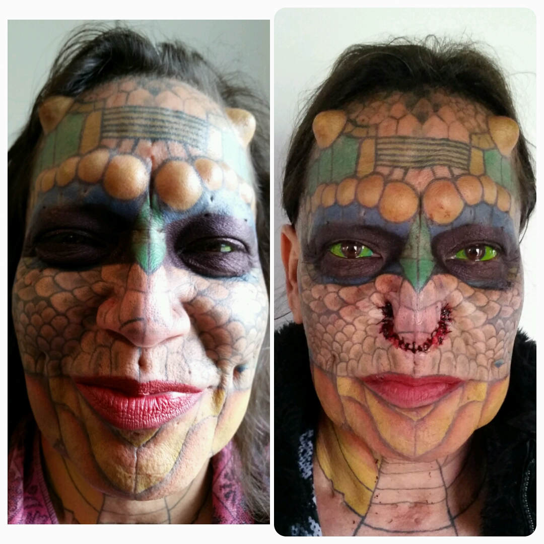 Transgender Ex Banker Has Ears And Nose Removed In Quest To Become Dragon MDRUM Dragon Lady 9