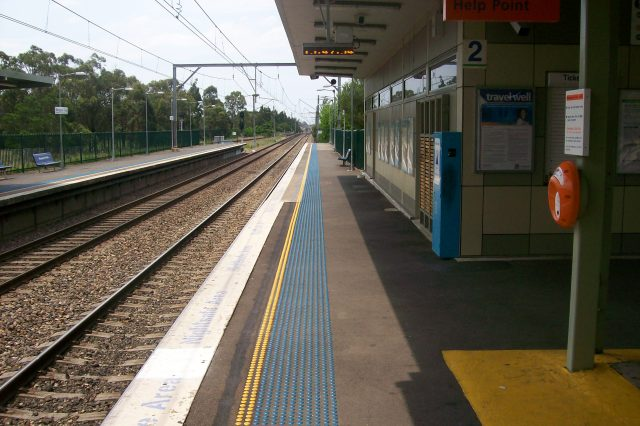 This Station Haunted By Ghost Of Teen Girl In Bloody Clothes Is Massive NOPE Macquarie fields railway station platform 2 640x426