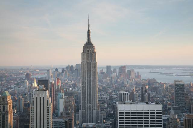 Cloaked Alien Ship Seen Hovering Near Empire State Building NYC Empire State Building 640x426