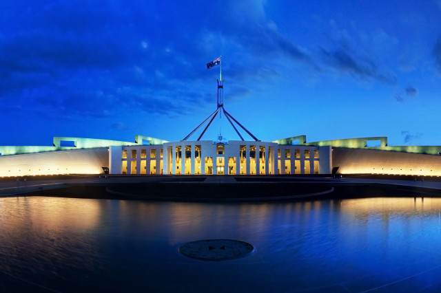 Kid, 12, Becomes Australian PM For Two Days Parliament House Canberra Dusk Panorama 640x426