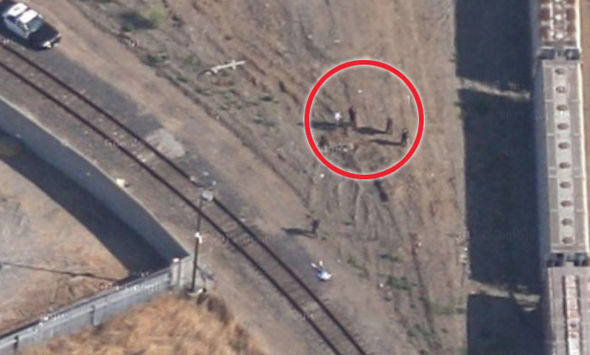These Are The Weirdest, Most Shocking Things On Google Earth Police can be seen standing over Kevin s body 425723