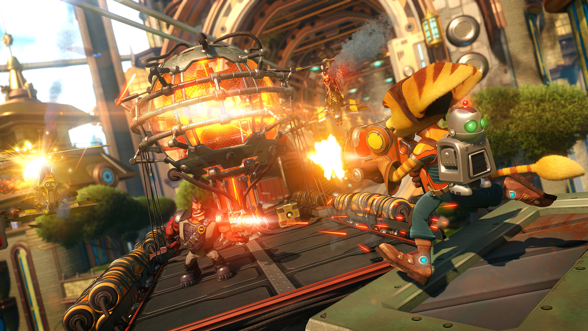 Ratchet & Clank Is A Love Letter To A Treasured Franchise RCPS4 1 met train