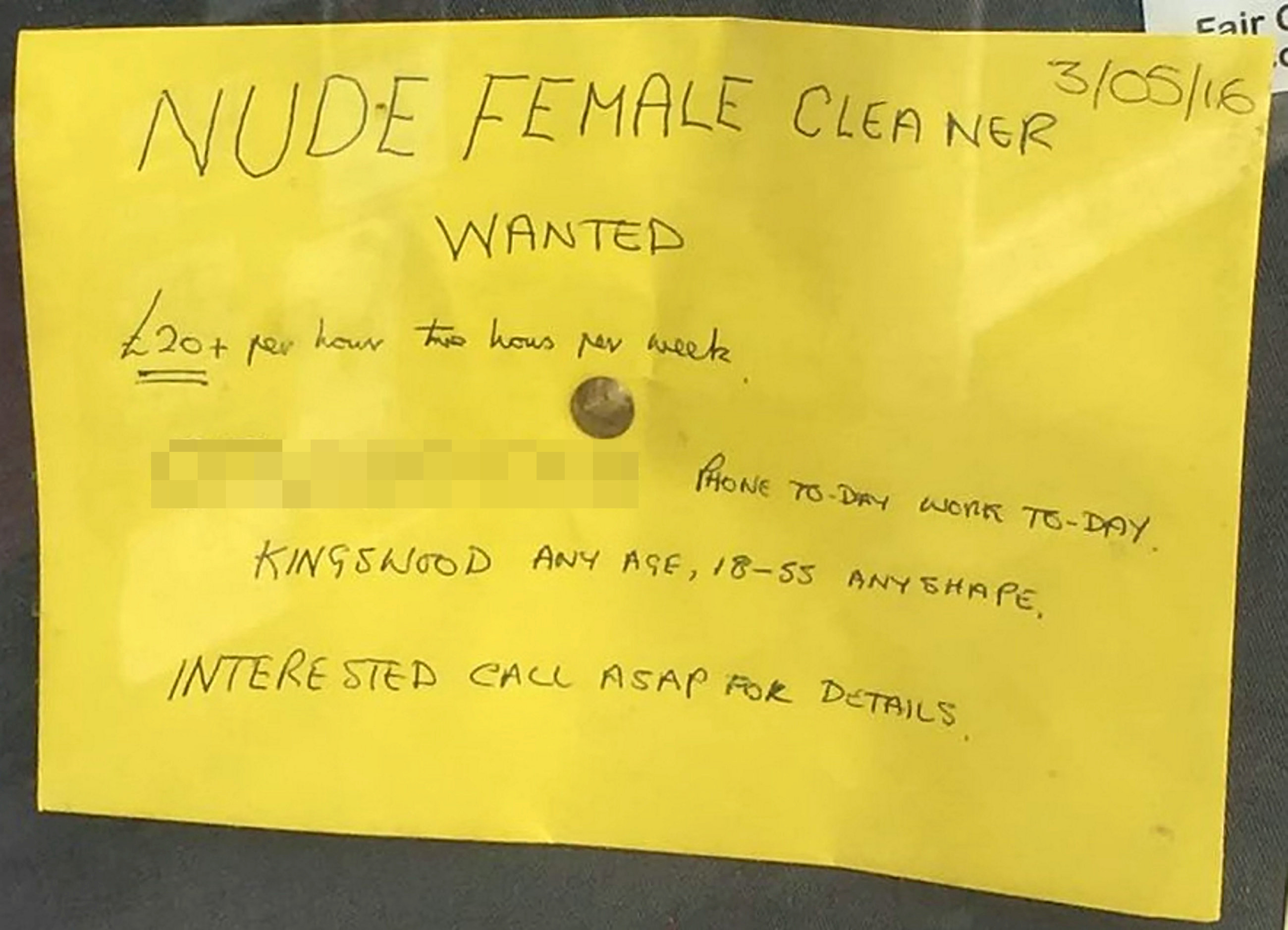 Man, 70, Advertises For Nude Female Cleaner, Gets Incredible Response SWNS NUDE CLEANER 01 1