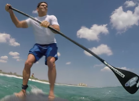 Shocking Moment Paddleboarder Is Knocked Down By A Shark Screen Shot 2016 04 09 at 11.02.23