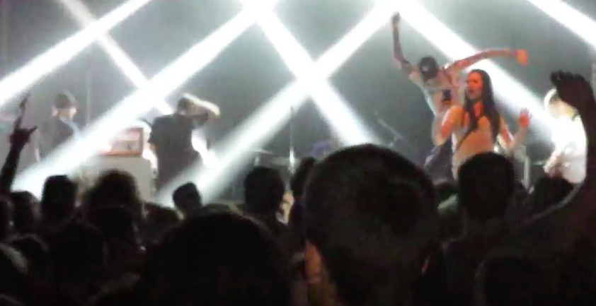 Crazy Moment Bands Lead Singer Dropkicks Female Fan Off Stage Screen Shot 2016 04 12 at 13.46.21