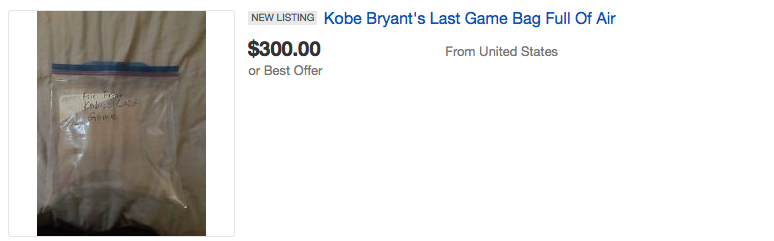 People Are Seriously Bidding On Air From Kobe Bryants Last Game Screen Shot 2016 04 18 at 15.10.23
