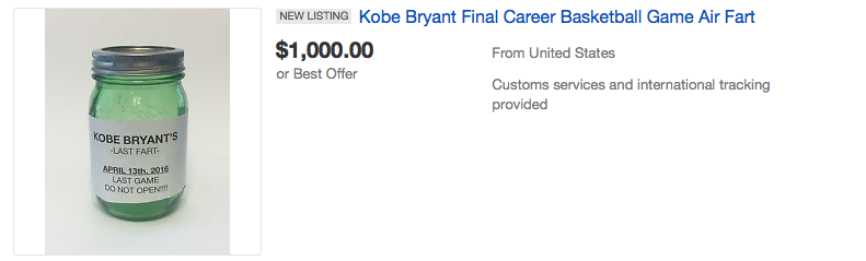 People Are Seriously Bidding On Air From Kobe Bryants Last Game Screen Shot 2016 04 18 at 15.10.42
