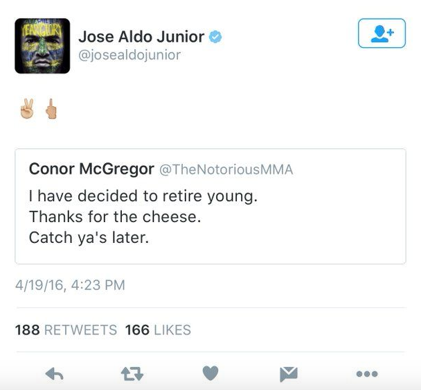 Conor McGregor Retirement Draws Mixed Response From Fellow Pros Screen Shot 2016 04 20 at 16.04.28