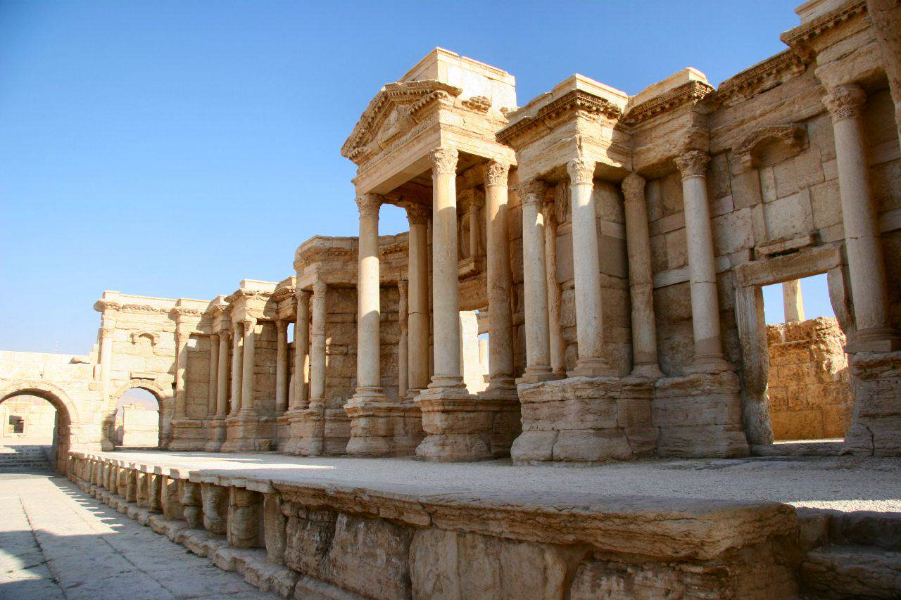 Shocking Photos Show How An Ancient City Was Destroyed By ISIS The Scene of the Theater in Palmyra