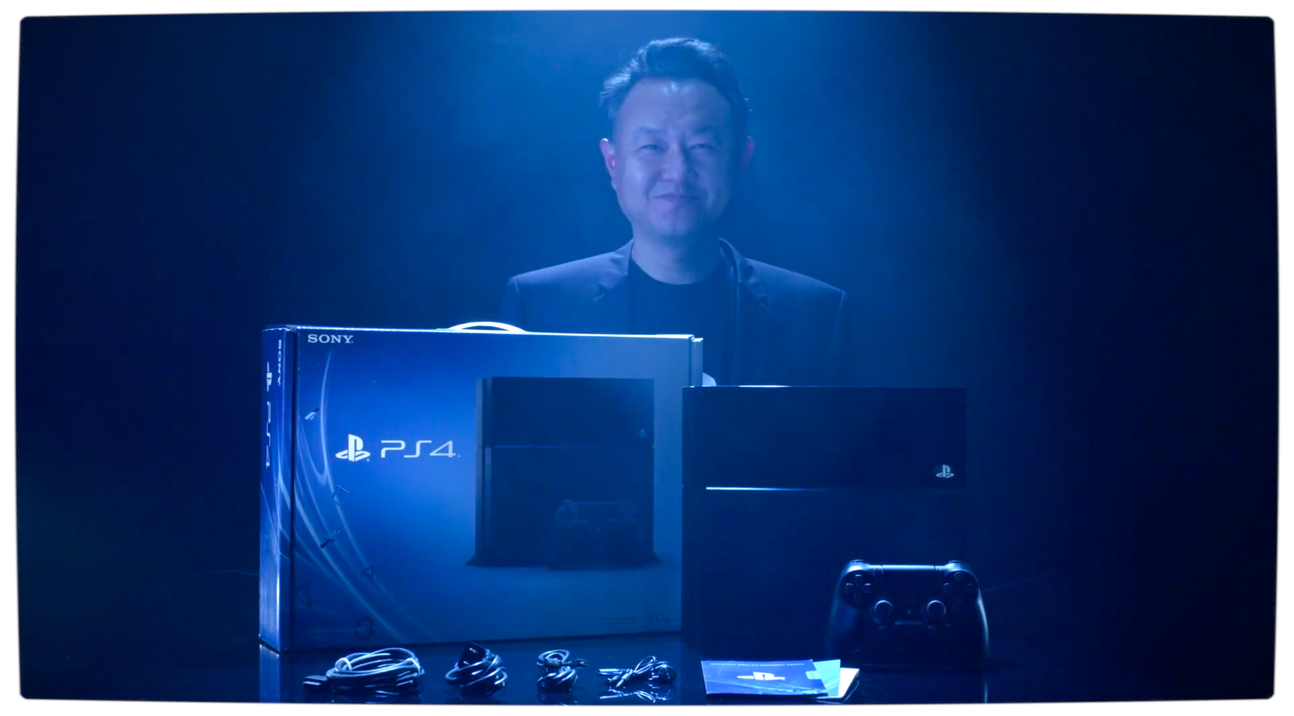 Vamers-Gaming-Sony-Channels-Daft-Punk-in-Official-PlayStation-4-Unboxing-Video-Shuhei-Yoshida-with-the-PlayStation-4