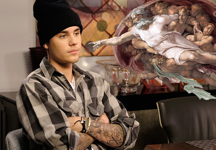 Justin Bieber Compares Himself To God, Then Gets P*ssed Off About It bieb1 1