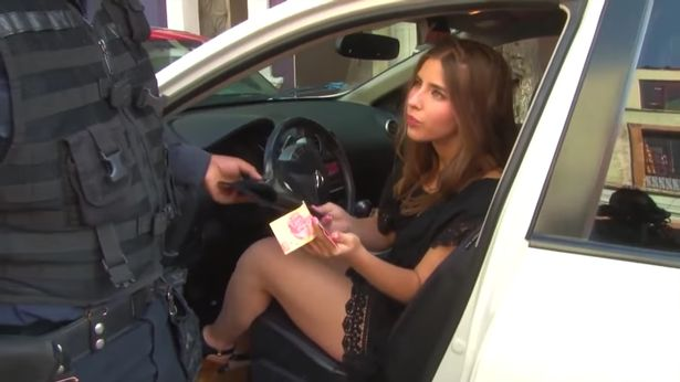 Fake taxi uk police officer blonde babe