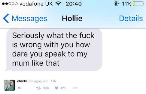 This Girls Response To Her Homophobic Auntie Is Hilarious, And Its Going Viral charlie3