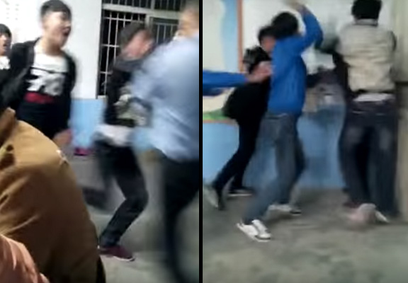 Shocking Video Of Teacher Getting Beaten By Students Goes Viral fight 2