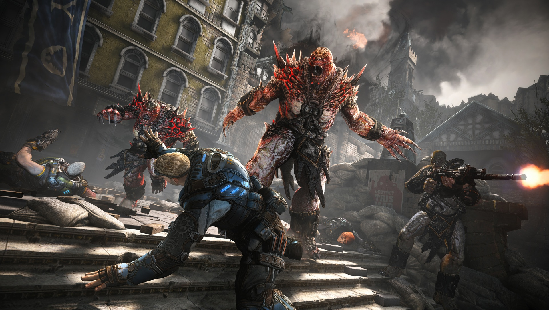 New Gears Of War 4 Footage Shows Off Brutal Knife Kill gears of war 4 pcre lehetseges 1