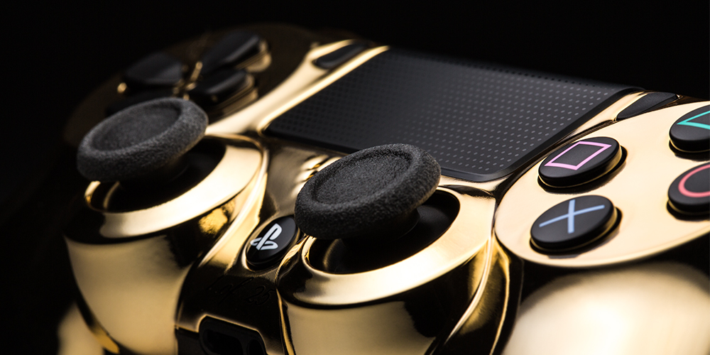 PlayStation Employee Builds Custom Controller To Surprise Disabled Gamer gold controller 3
