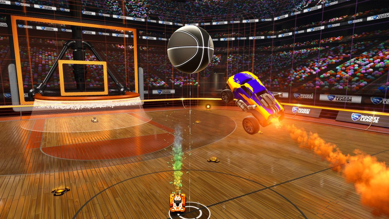 Rocket League Devs Show New Basketball In Action rocket league basketball.0.0
