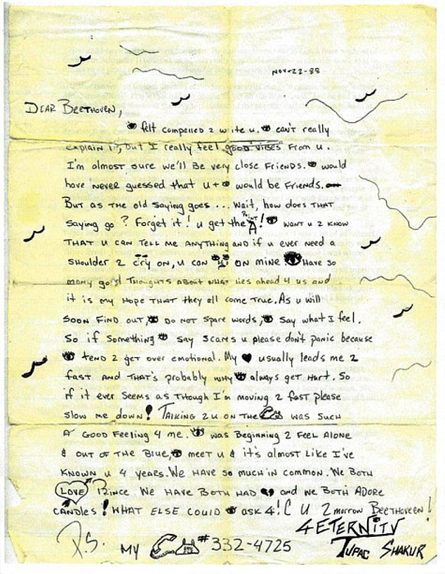 This Rare Letter From Young Tupac Sheds Light On His Early Life tupac33