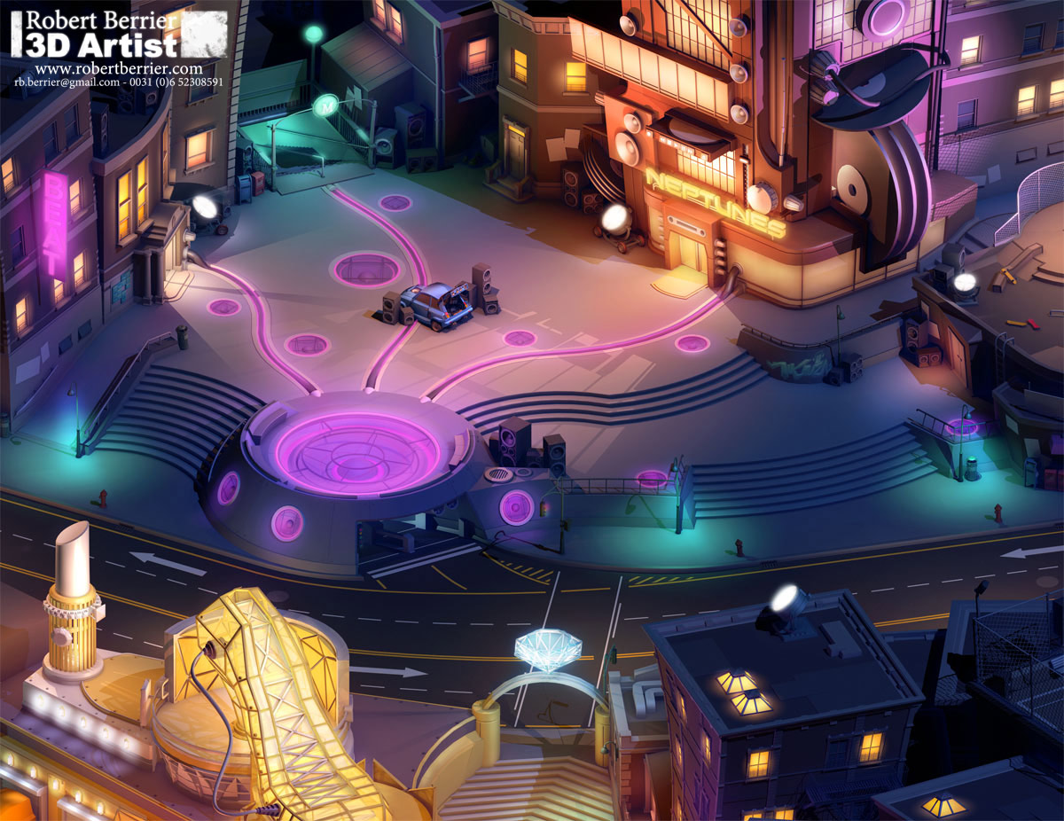 Footage Of A Cancelled Guitar Hero MMO Surfaces Online vf heroworld beat plaza
