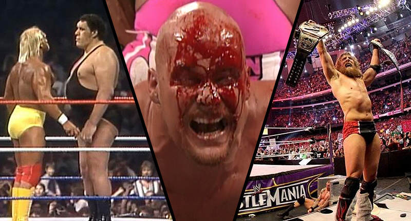 20 Unforgettable WrestleMania Moments Ahead Of WM 32 wrestlemania moments FB