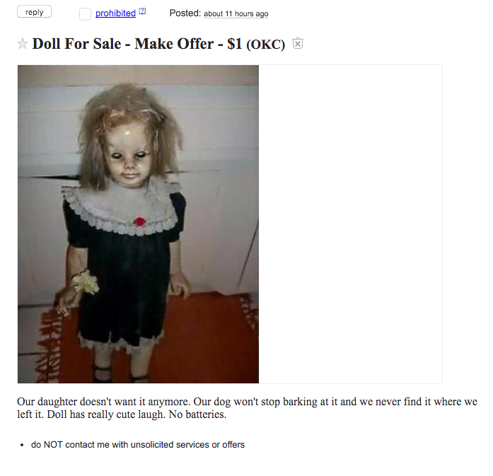 This Advert For The Creepiest Doll Ever Will Keep You Awake Tonight zoaVXRZ