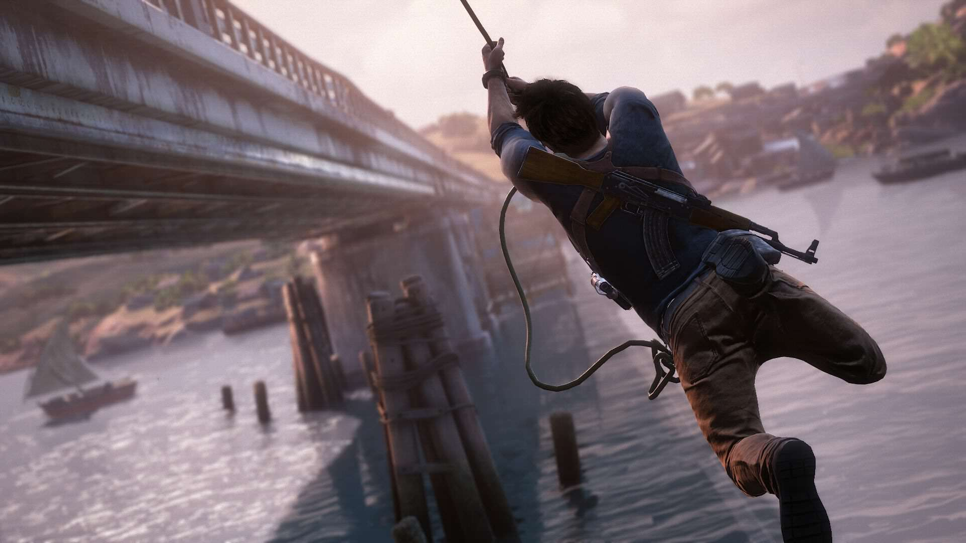 How One Disabled Player Inspired Uncharted 4s Accessibility Options 2759115 uncharted 4 drake rope bridge 1434429051 1