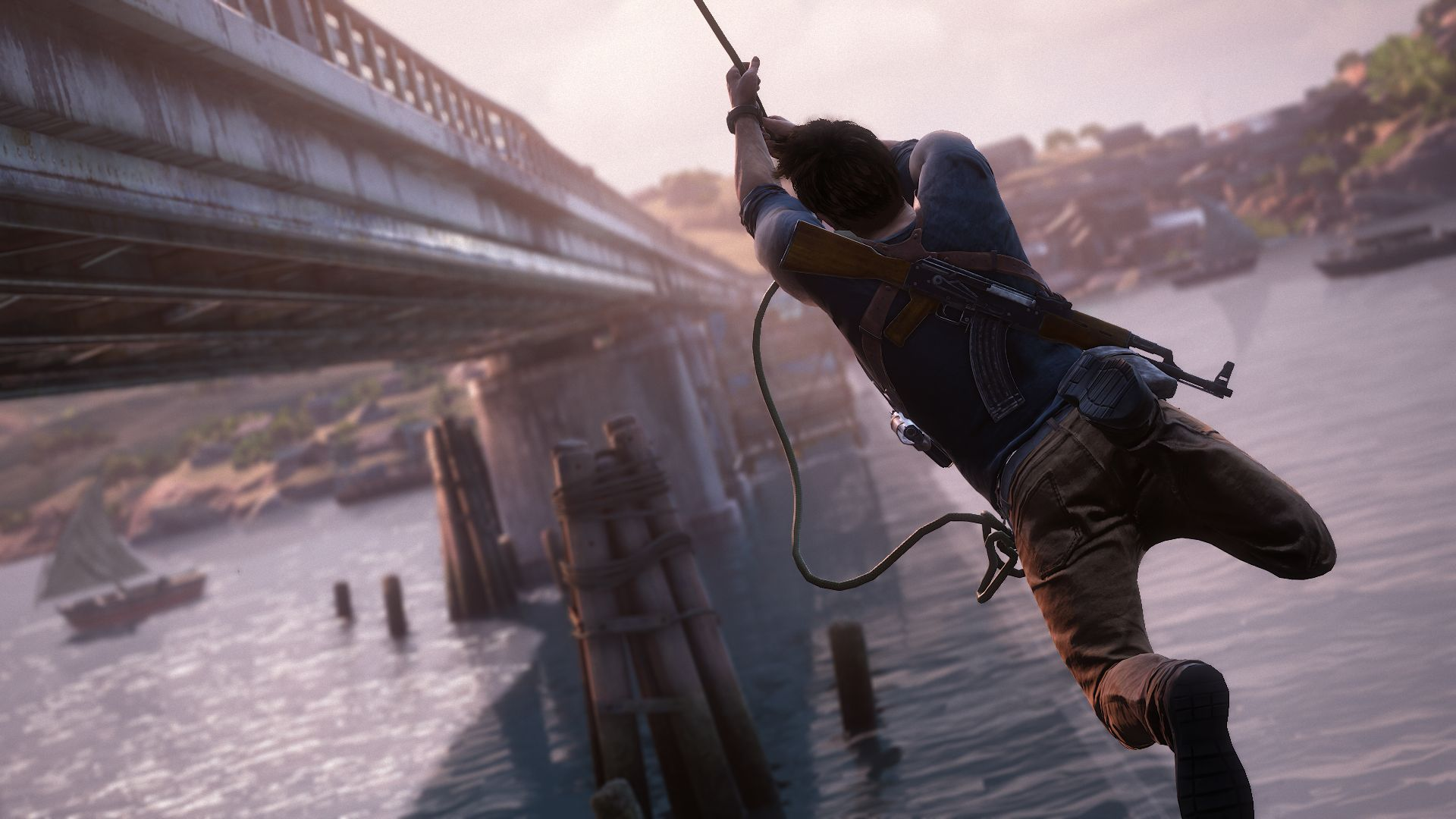Uncharted 4s Nathan Drake Voice Actor On Role Of A Lifetime 2759115 uncharted 4 drake rope bridge 1434429051