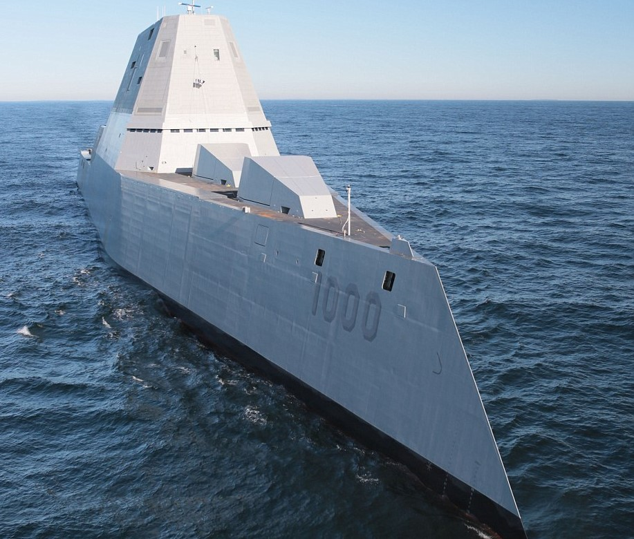U.S. Navy Reveals Their Deadliest Destroyer And Its Pretty Crazy 3433EC9400000578 3592373 Despite its enormous size the ship s unique angular shape makes  a 13 1463385911064