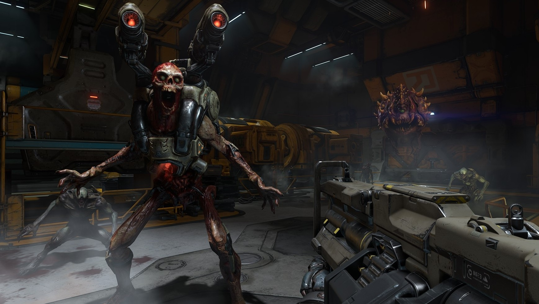 Guns And Gore In DOOMs Bloody Launch Trailer DOOM 2016 Revenant Fight 1437988262 e1452134870141