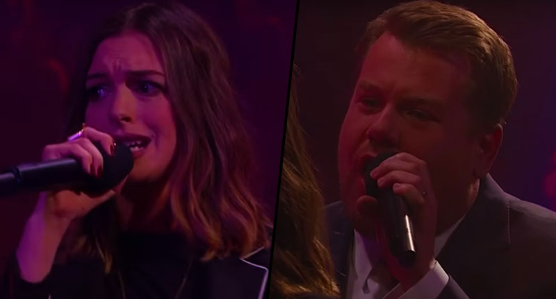 James Corden And Anne Hathaway Have Epic Rap Battle FaceThumb james 1