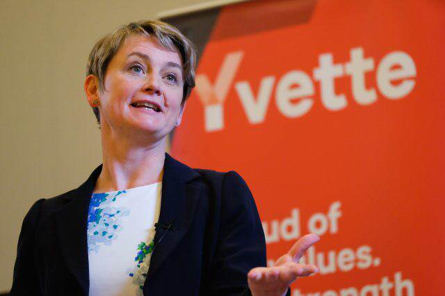 Labour Leadership Hopeful Yvette Cooper Speaks To Supporters In The North East