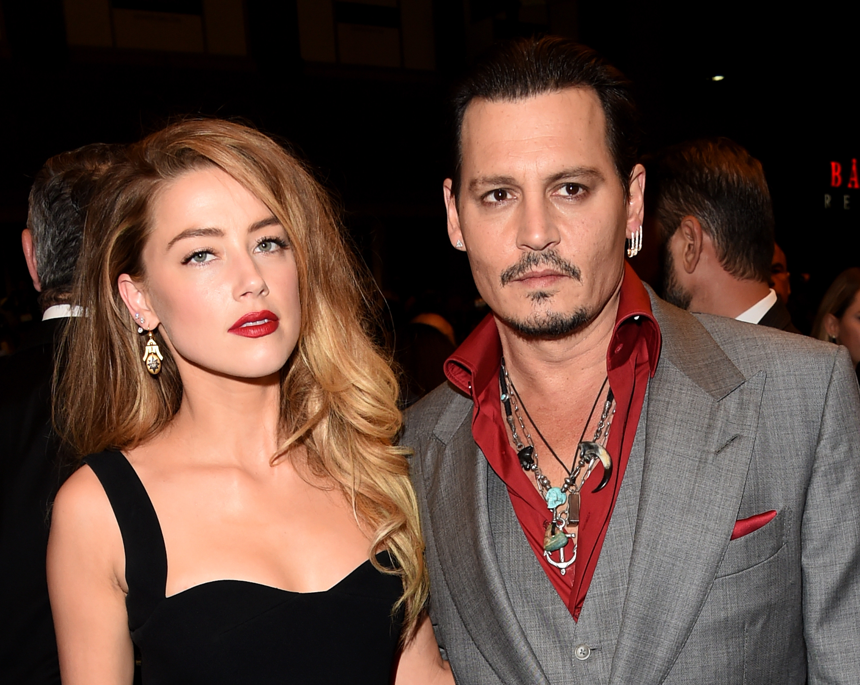 Amber Heard Really Isnt Happy With Husband Johnny Depp GettyImages 488255658