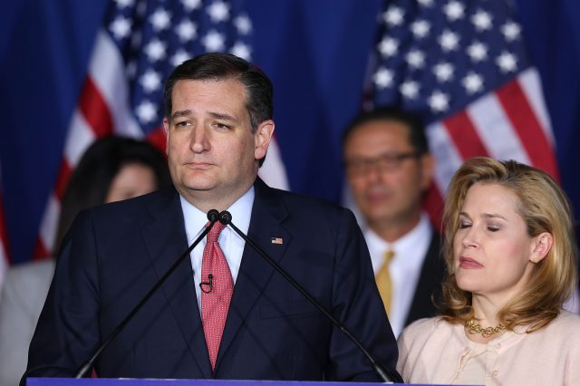 Ted Cruz Drops Out Of Presidential Race, Promptly Punches Wife In Face GettyImages 527850768 640x426