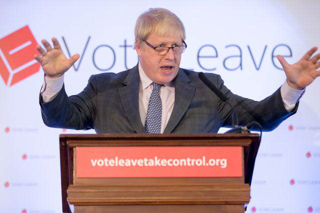 Boris Johnson Campaigns To Leave The EU