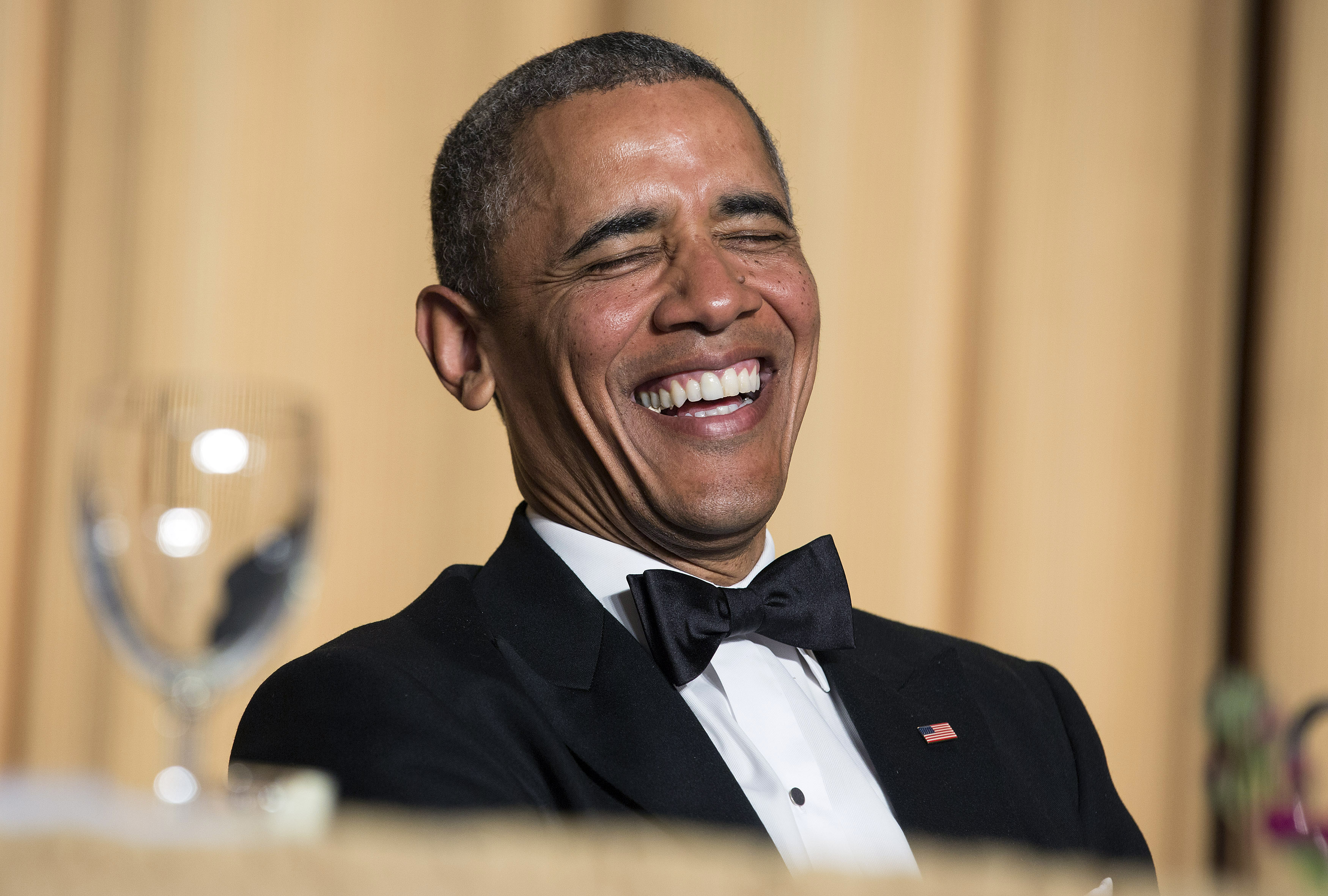 Barack Obamas Latest Speech Proves He Missed His True Calling As A Comedian Obama laugh