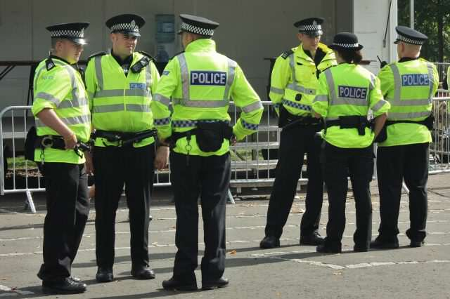 Police Issue Warning After Two Men Collapse After Taking Legal High Police in Glasgow 640x426
