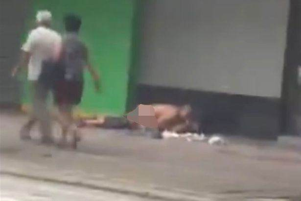 Couple Have Sex On Street In Broad Daylight In Shocking Video Public sex