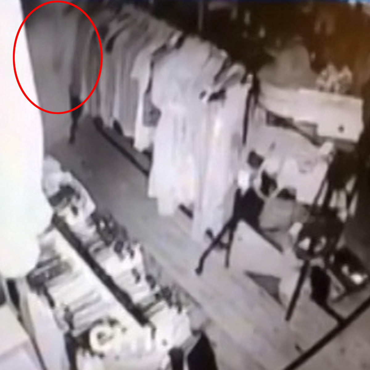 Creepy As F*ck CCTV Footage Shows Ghost Wandering Around Vintage Store SWNS SHOP GHOST 02A