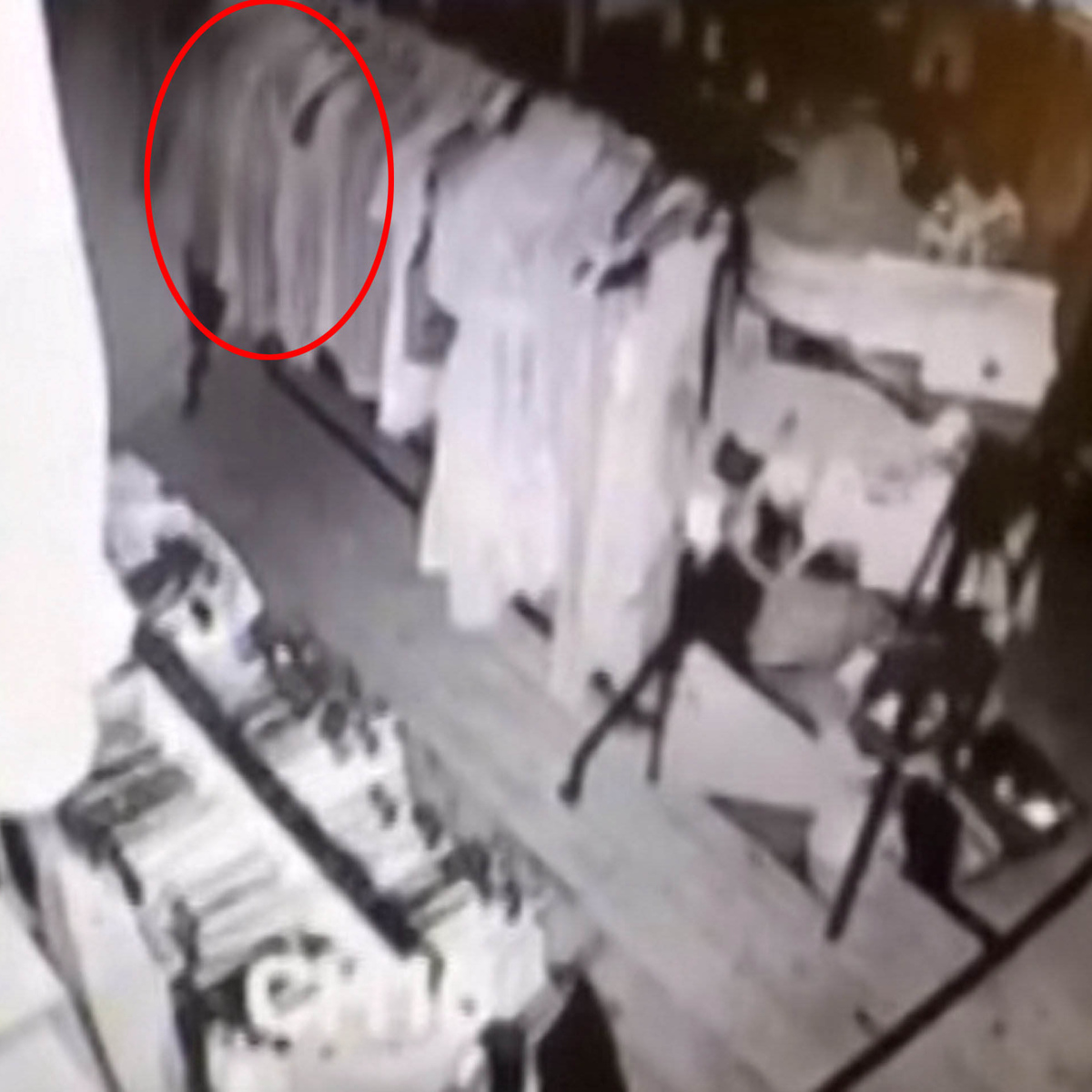 Creepy As F*ck CCTV Footage Shows Ghost Wandering Around Vintage Store SWNS SHOP GHOST 04A