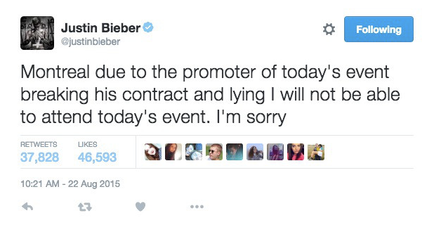 Justin Bieber Chats Shit On Twitter, Gets Banged With Huge Lawsuit Screen Shot 2016 05 17 at 16.06.12