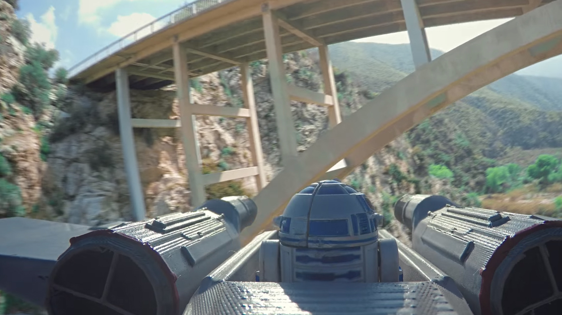 Check Out This Incredible Star Wars Dogfight Shot With Drones Untitled 1 34